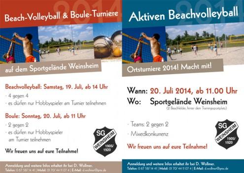 Beachvolleyball Weinsheim